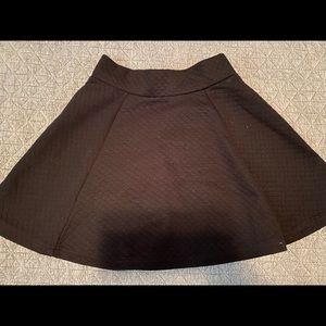 Black skater skirt.